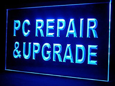 C B Signs Computer PC Repair Upgrade LED Sign Neon Light Sign Display