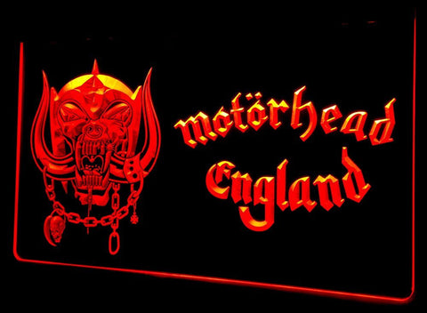 Motorhead England Neon Sign (Light. LED. NL140 )