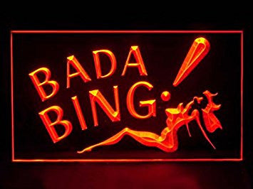 Bada Bing Sexy Lady Sport Game Bar Hub Advertising LED Light Sign J313R