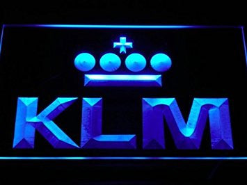 KLM Royal Dutch Airlines Neon Sign (Light. LED)