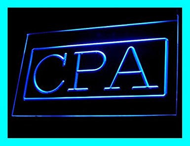 C B Signs Certified Public Accountant CPA LED Sign Neon Light Sign Display