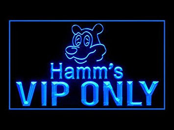 Hamm's Beer VIP ONLY Pub Bar Advertising LED Light Sign Y053B