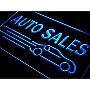 BuW Auto Car Sales Neon Light Sign. led lights cool night lights city night l...