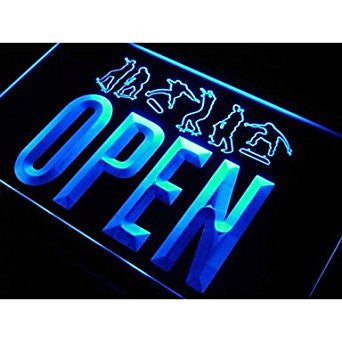 OPEN Skateboard Neon Sign (Sport. Shop. Skate. Light. LED)