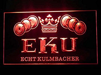 Kulmbacher EKU Neon Sign (P183R. Hub. Bar. Advertising. LED. Light)