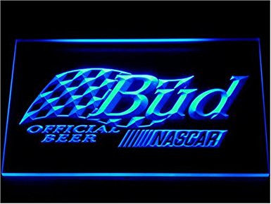 Budweiser Bud Beer Nascar Official Neon Sign Bar Light by WorldLEDHouse