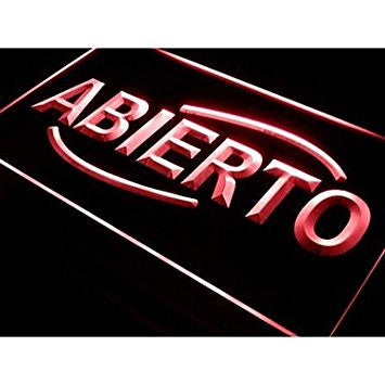 Commoon I535 ABIERTO Food Cafe Restaurant Neon Light Sign