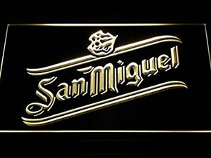 San Miguel Beer Neon Sign (Man Cave. Bar. Pub. Dispaly. Light. LED)