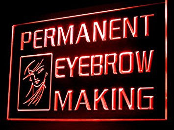 Permanent Eyebrow Making Shop Led Light Sign