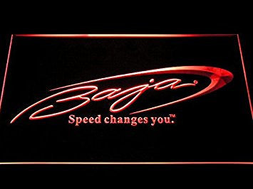 Baja Boat Fishing Neon Sign (Man Cave. D259-R. LED. Light)