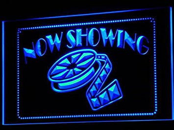 Now Showing Neon Sign (Filming. Film. Movies. Light. LED)