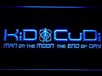 Kid Cudi Man On The Moon End of Day Neon Sign (Light. Man Cave. LED. C222-B)