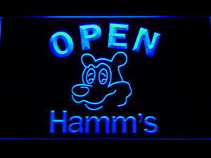 NL251 Hamm's Beer OPEN Bar Neon Light Signs (purple)