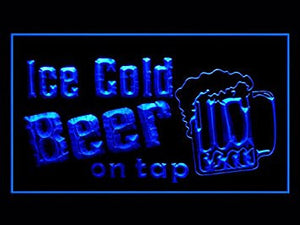 Man Cave Cold Beer on Tap LED Neon Sign - Light Sign