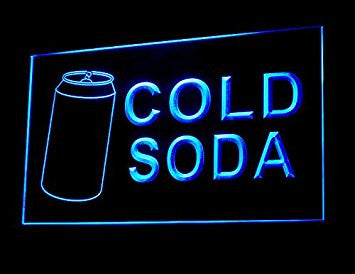 Cold Soda Drink Led Light Sign