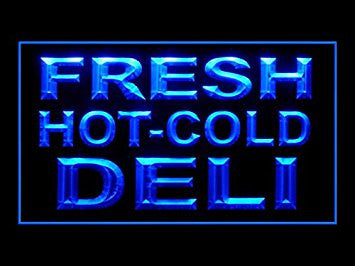 Fresh Hot Cold Deli Snack Open Led Light Sign