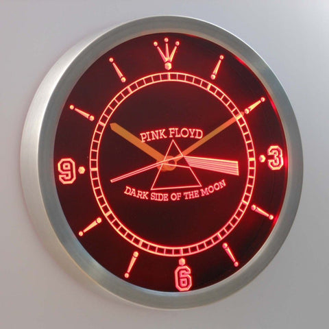 Pink Floyd Rock n Rock Bar 3D Neon Sign LED Wall Clock NC0146-R