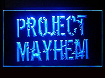 Fight Club Project Mayhem Hub Bar Advertising LED Light Sign P539B