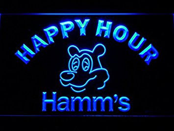Hamm's Beer Happy Hour Bar LED Neon Light Sign Man Cave 645-B