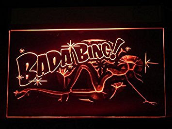 Bada Bing Sexy Nude Girl Sport Game Bar Hub Advertising LED Light Sign J443R
