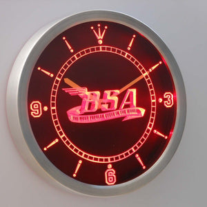 BSA Motorcycles Cycle 3D Neon Sign LED Wall Clock NC0180-R