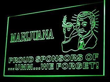 Marijuana Proud Sponsors Of We Forget Weed Hemp Led Light Sign