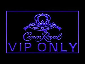 Crown Royal Whiskey VIP Only Neon Sign (LED. Light)