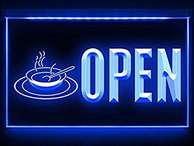 Hot Soup Open Neon Sign (Light. Display. LED)