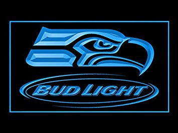 Bud Light Seattle Seahawks Neon Sign (LED. Light)