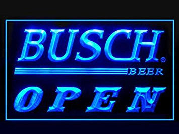 Busch Beer Open Neon Sign (Drink. LED. Light)