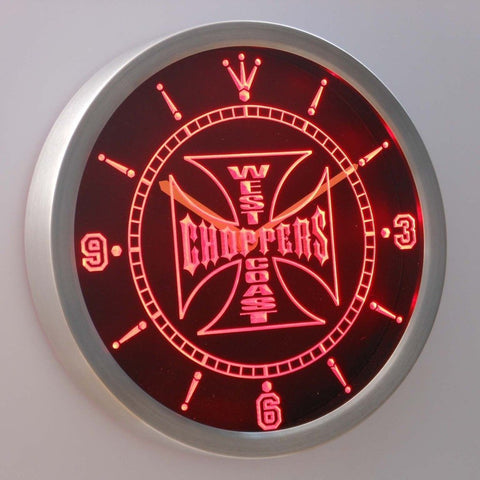 West Coast Choppers Bike 3D Neon Sign LED Wall Clock NC0179-R