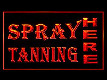 Spray Tanning Shop Beauty Salon Led Light Sign