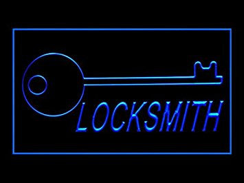 Locksmith Keys Repair Services Lock Open Led Light Sign