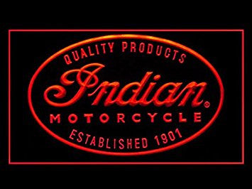 Indian Motorcycle Repair Service Led Light Sign