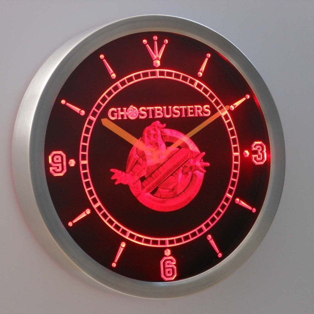 Ghostbusters 3D Neon Sign LED Wall Clock NC0223-R