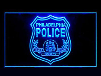 Philadelphia Police Bar Led Light Sign