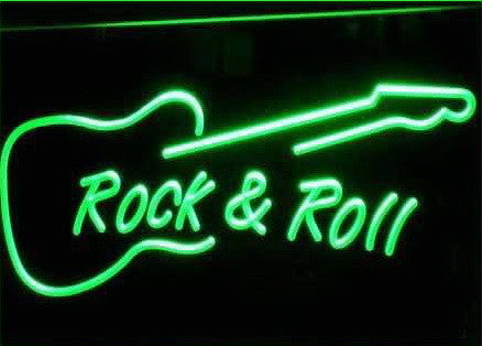 Rock and Roll Guitar Neon Sign (Music. Light. LED)