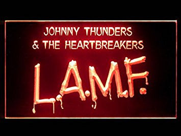 Johnny Thunders LAMF Hub Bar Advertising LED Light Sign P529R