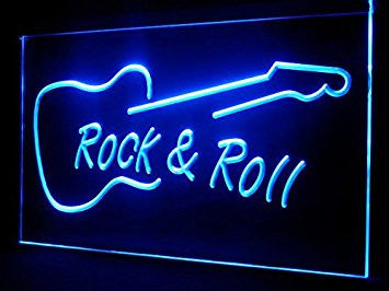 Man Cave Guitar Rock Roll LED Neon Sign - Light Sign