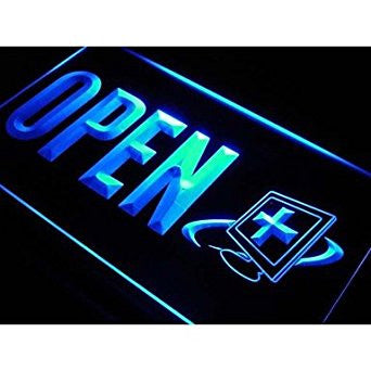 OPEN Computer Repair Expert Shop Neon Light Sign. led lights for home pre...