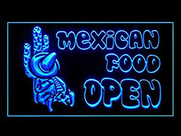 Mexican Food Snacks Restaurant Open Cafe Led Light Sign