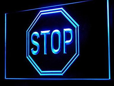 Stop Sign LED Neon Light Sign Display