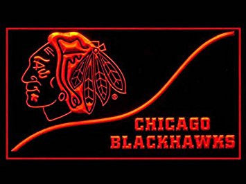 Chicago Blackhawks Neon Sign (Cool. LED. Light)