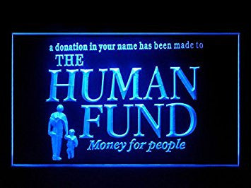 Human Fund Seinfeld Hub Bar Advertising LED Light Sign P473B
