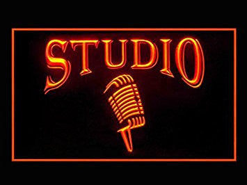 Studio On The Air Microphone Led Light Sign