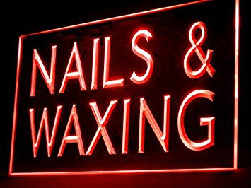 Nails & Waxing Shop Led Light Sign