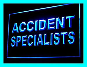 C B Signs Lawyer Injury Accident Specialists LED Sign Neon Light Sign Display