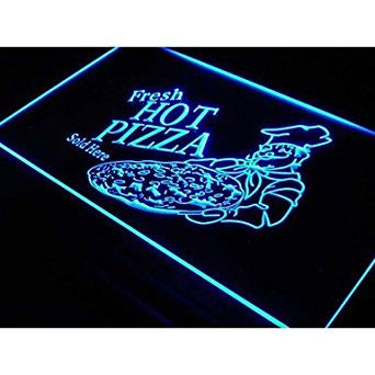 BuW Fresh Hot Pizza Sold Here Neon Light Sign. led flood lights princess nigh...