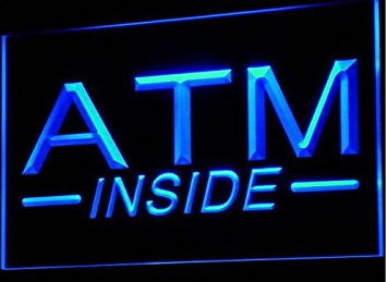 ATM Inside Neon Sign (Light. Display. Lure)