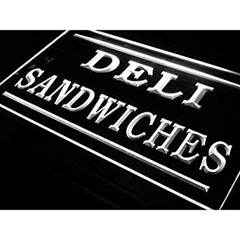 BuW Deli Sandwiches Cafe Shop Bar Pub Neon Sign. lighting direct star night l...